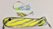 "Chartreuse Tribal Chrome Cut-Bait Rig 10"" Weiner Combo NEW 2015"