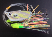 'Chartreuse Tribal Chrome'  Cut-Bait Rig - NEW 2015