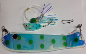 "'Green Spots UV' Cut-Bait Rig 10"" Weiner Combo NEW 2015"