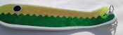 "Electric Green/UV Fishscale White 10"" Weiner"