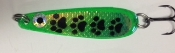 Muddy Paws Green UV Standard Size Trolling Spoon - NEW 2015