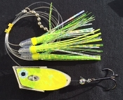 'Chrome Chartreuse Electric' Cut-Bait Rig - NEW 2016