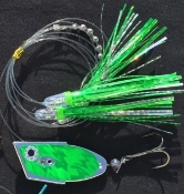 'Chrome Green Electric' Cut-Bait Rig - NEW 2016